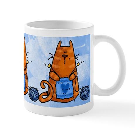 Kntting Kitty Mug