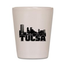 Tulsa Skyline Shot Glass