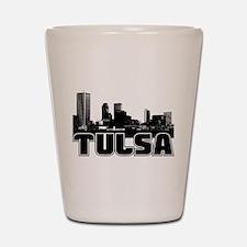 Tulsa Skyline Shot Glass