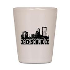 Jacksonville Skyline Shot Glass