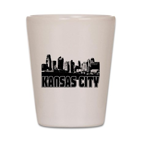 Kansas City Skyline Shot Glass