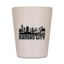 Kansas City Skyline Shot Glass