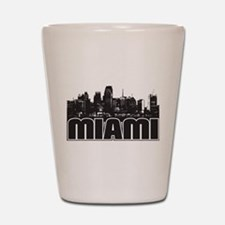 Miami Skyline Shot Glass
