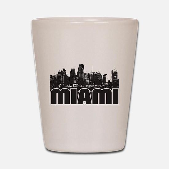 Miami Skyline Shot Glass