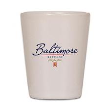 Baltimore Script Shot Glass