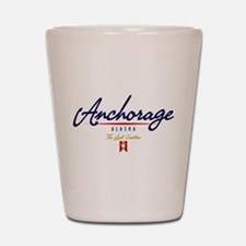Anchorage Script Shot Glass