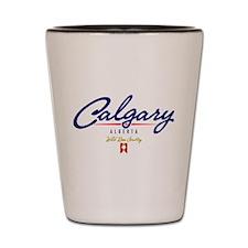 Calgary Script Shot Glass