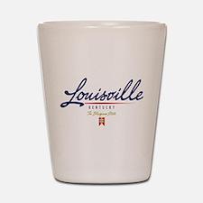 Louisville Script Shot Glass
