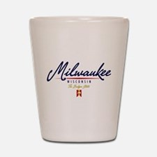 Milwaukee Script Shot Glass