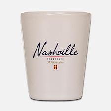 Nashville Script Shot Glass