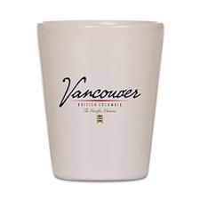 Vancouver Script Shot Glass