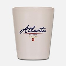 Atlanta Script Shot Glass