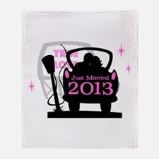 Drive In Newlyweds 2013 Throw Blanket