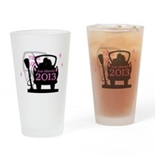 Drive In Newlyweds 2013 Drinking Glass
