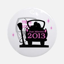 Drive In Newlyweds 2013 Ornament (Round)