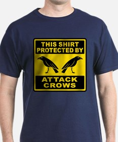 Protected By Attack Crows T-Shirt