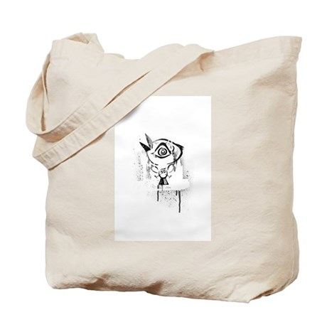 Graffiti Third Eye Bird Tote Bag