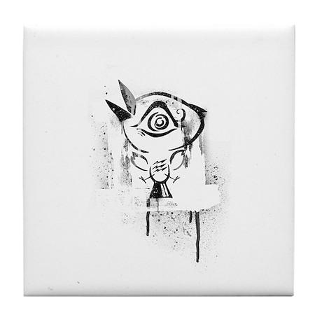Graffiti Third Eye Bird Tile Coaster