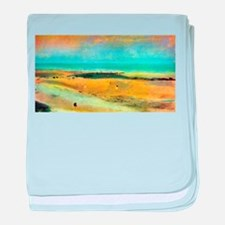 Edgar Degas Beach At Low Tide baby blanket