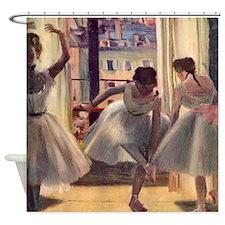 Edgar Degas Three Dancers Shower Curtain