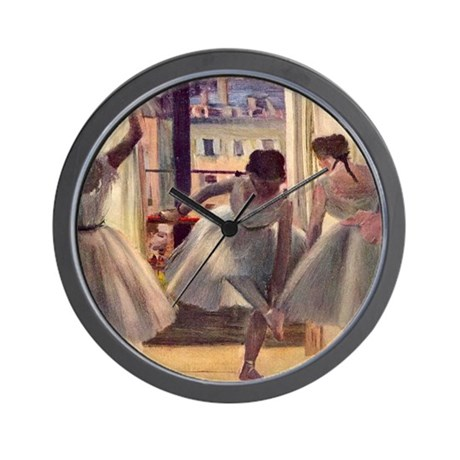 Edgar Degas Three Dancers Wall Clock