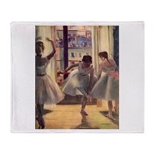 Edgar Degas Three Dancers Throw Blanket