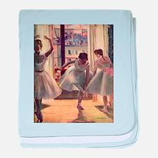 Edgar Degas Three Dancers baby blanket