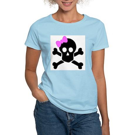 Girl Skull Women's Pink T-Shirt