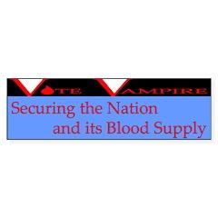 Vote Vampire - Secure: Bumper Sticker (10 pk)