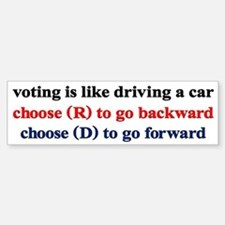 Democrat Voting/Driving Car Car Sticker