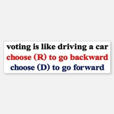 Democrat Voting/Driving Sticker (Bumper)