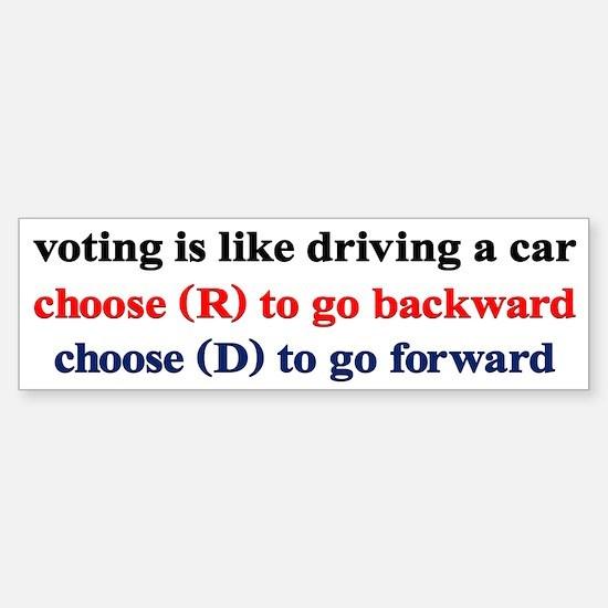 Democrat Voting/Driving Sticker (Bumper)