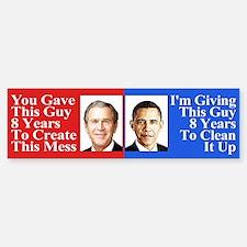 Pro Obama Bumper Sticker Sticker (Bumper)