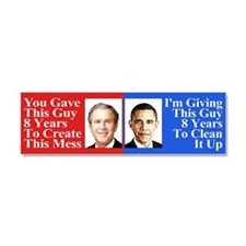 Pro Obama Bumper Sticker Car Magnet 10 x 3