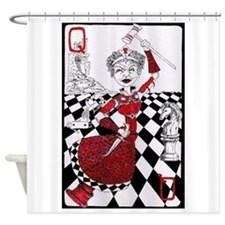 The Red Queen Shower Curtain