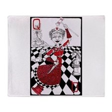 The Red Queen Throw Blanket