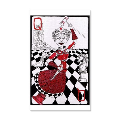 The Red Queen 35x21 Wall Decal