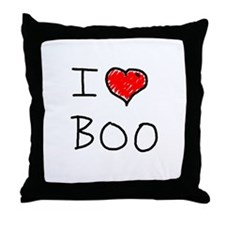 i love boo Throw Pillow