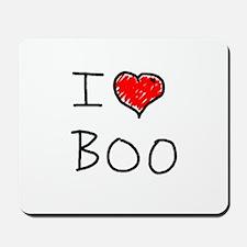 i love boo Mousepad