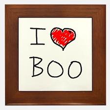 i love boo Framed Tile