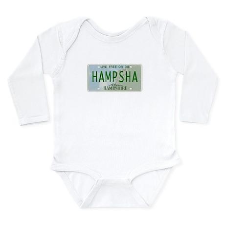 hampsha plate Long Sleeve Infant Bodysuit