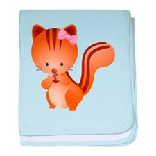 Cute and Cuddly Baby Squirrel baby blanket