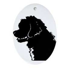Portuguese Water Dog Head Ornament (Oval)