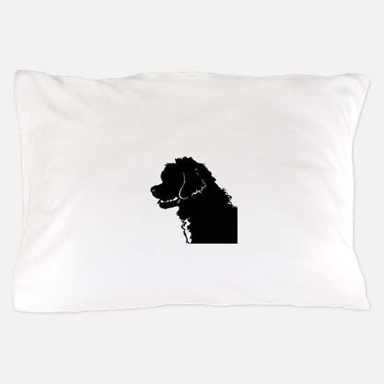 Portuguese Water Dog Head Pillow Case
