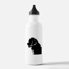 Portuguese Water Dog Head Water Bottle