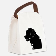 Portuguese Water Dog Head Canvas Lunch Bag