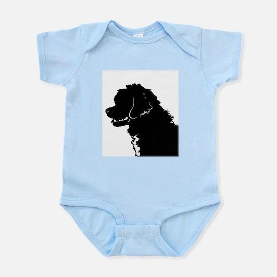 Portuguese Water Dog Head Infant Bodysuit