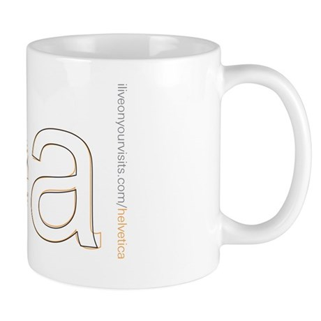 helvetica vs arial mug