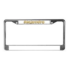Alejandro Toasted License Plate Frame