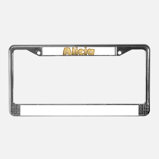 Alicia Toasted License Plate Frame